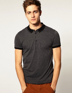 River Island Cord Collar Polo