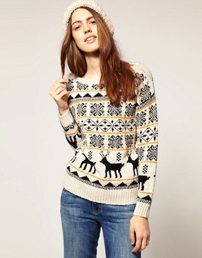 Image 1 of&#160;ASOS Reindeer Jumper