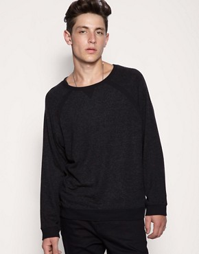 ASOS BLACK Oversized Crew Sweater