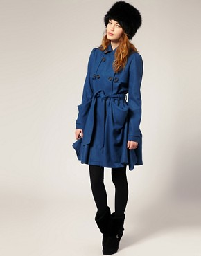 ASOS | ASOS Hitch Hem Coat  :  winter clothing womens coat fashion outerwears featuring coat