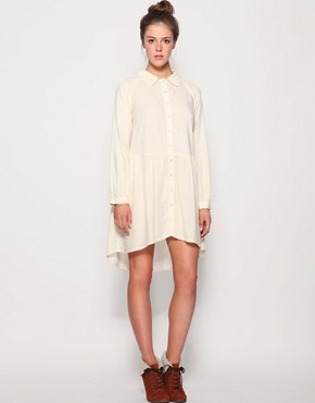 Image 4 of ASOS Button Through Drop Waist Shirt Dress