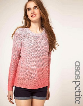 Image 1 of ASOS PETITE Spacedye Jumper