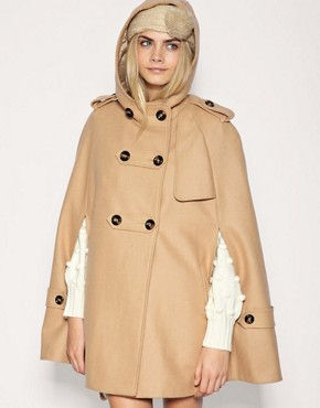 Image 1 of&#160;ASOS Hooded Military Cape