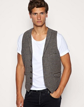 ASOS Tweed Check Waistcoat