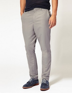ASOS Carrot Fit Grey Trousers