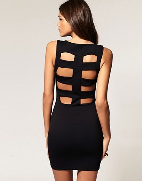 Image 1 ofASOS Mini Dress With Cage Back