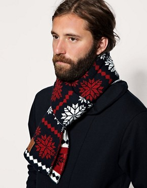 Penfield Amherst Fairisle Knitted Scarf