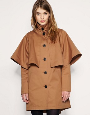 ASOS Dipped Back Cape Trench