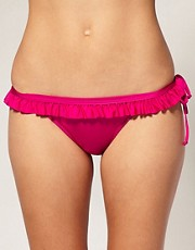 buy ASOS Skirted Cross Over Tie Side Bikini Briefs by ASOS in swimsuits shop