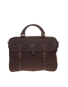 Barbour Waxed Cotton Laptop Bag