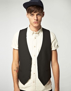 ASOS Tailored Black Waistcoat
