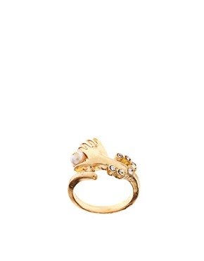 Image 1 of ASOS Hand Holding Pearl Ring