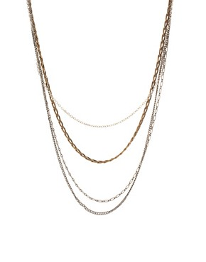 Image 1 ofASOS Multi Chain Long Necklace