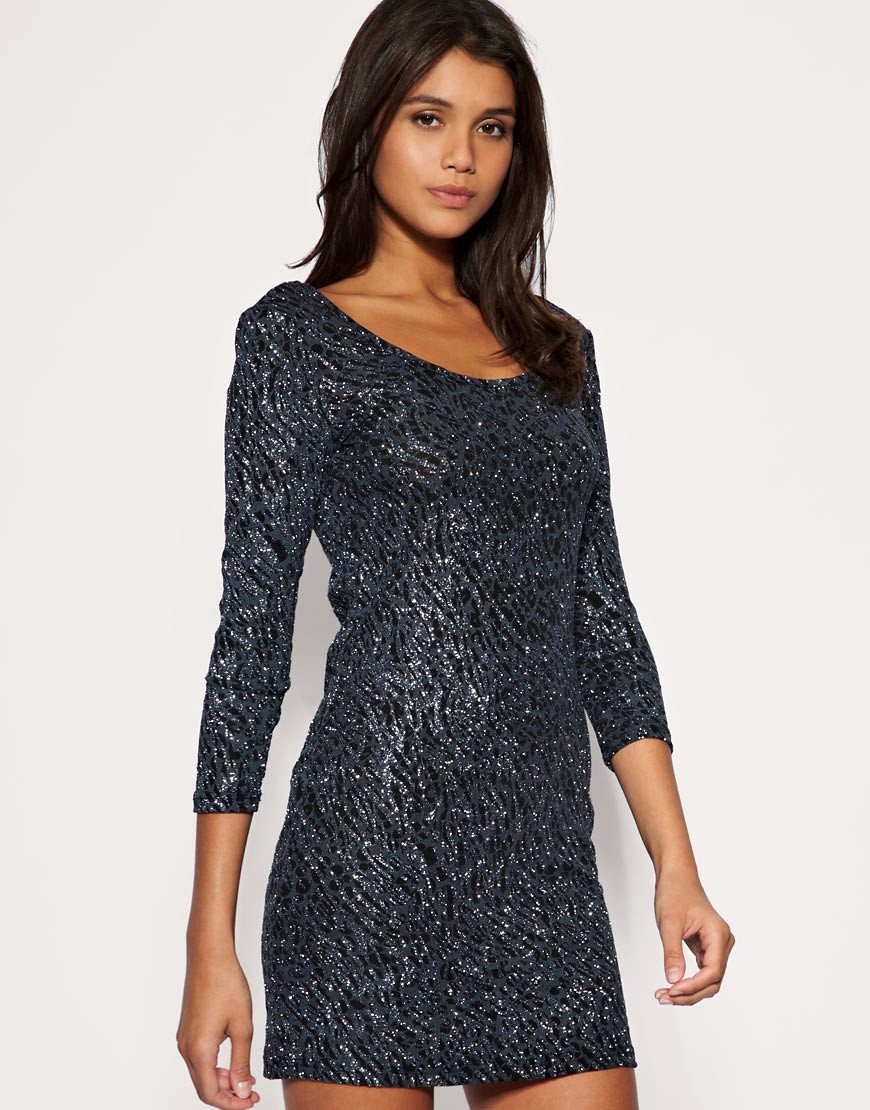  Vero Moda - Glitter Sparkle Disco Dress :  vero moda holiday mini mini dress