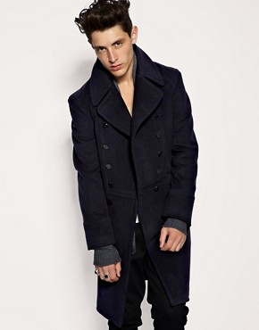 ASOS BLACK Double Breasted Trench Coat