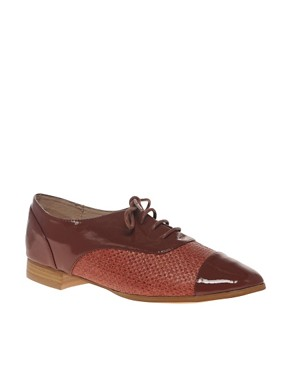 ASOS - MINGLE Lace Up Toe Cap Flat Shoe :  oxfords womens shoes shoes brogues