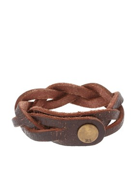 Polo Ralph Lauren Leather Plait Cuff
