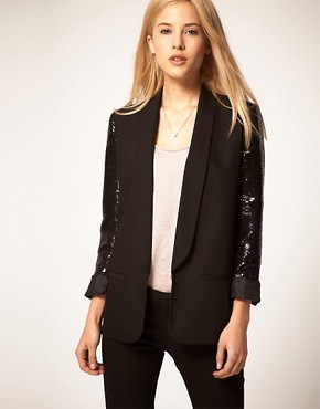 Image 1 of&#160;ASOS Party Blazer With Sequin Sleeves