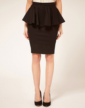 Image 4 of ASOS PETITE Exclusive Peplum Waist Skirt