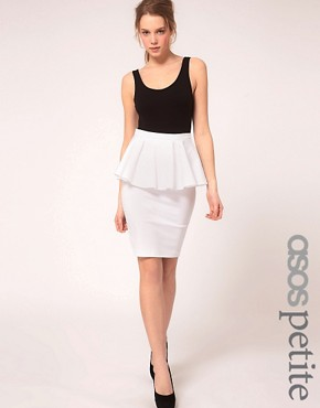 Image 1 of ASOS PETITE Exclusive Peplum Waist Skirt