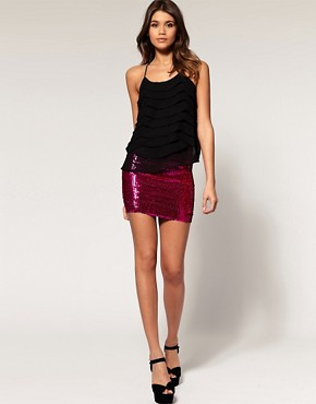 Image 1 of ASOS Mini Skirt in Sequins