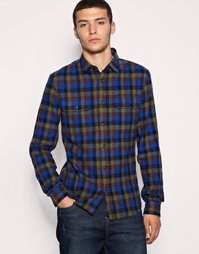 ASOS Brushed Brown Check Shirt