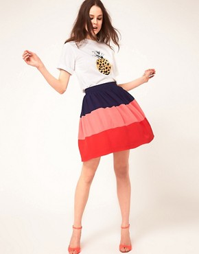 Image 1 of&#160;Boutique By Jaeger Colour Block Skirt