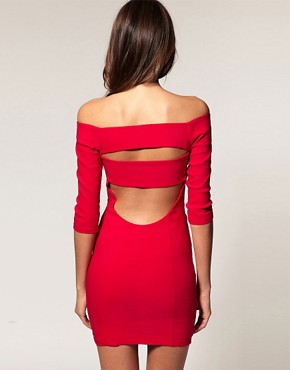 Image 1 of ASOS Off Shoulder Dress With Cut Out
