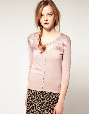 Image 1 ofA|wear Angora Disc Sequin Cardigan