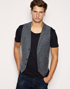 ASOS Salt and Pepper Waistcoat