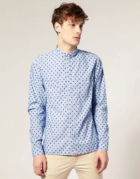 Paul Smith Jeans Classic Fit Spot Jaquard Shirt