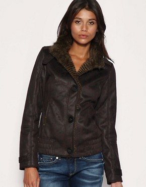 Women's Rabbit-Lined Microfiber Jacket with Rex Fur Hood