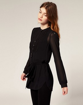 All Saints | All Saints Kinky Grandad Silk Shirt at ASOS :  blouse shirts shirt all saints