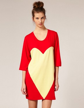 Image 1 of Louise Gray for ASOS T-Shirt Dress With Heart Panel