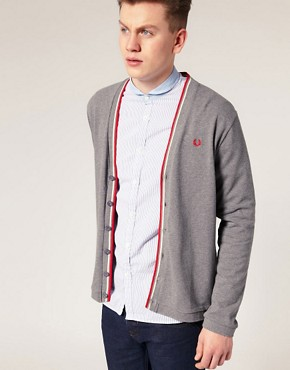 Fred Perry Tipped Pique Cardigan
