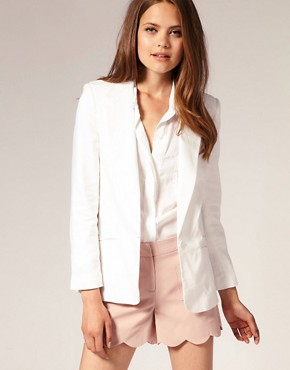 ASOS - Linen Boyfriend Blazer :  blazer linen blazer summer blazer asos