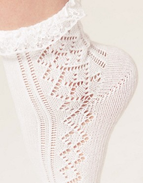 Image 2 ofASOS Pelerine Lace Frill Ankle Socks
