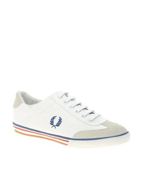 Fred Perry Newington Canvas And Suede Plimsolls