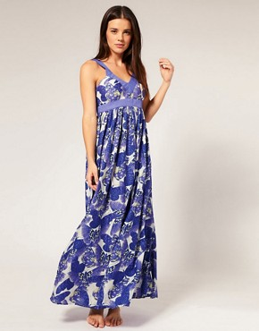 Image 1 of French Connection Butterfly Print Maxi Dress