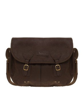Barbour Waxed Cotton and Leather Messenger Bag