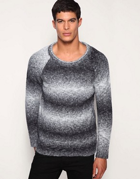 ASOS Shadow Stripe Scoop Neck Jumper