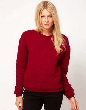 Image 1 of ASOS Quilted Sweatshirt