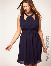ASOS CURVE Dress With Grecian Detail