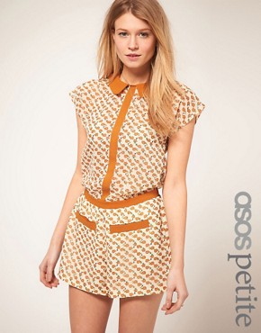 Image 1 of&#160;ASOS PETITE Exclusive Playsuit With Elephant Print