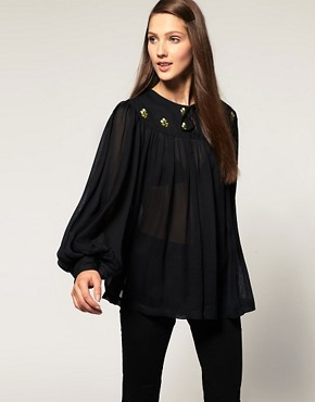 Image 1 of&#160;ASOS Embroidered Smock Top