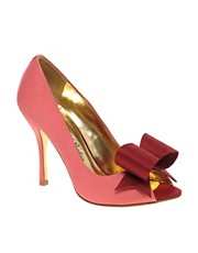 Ted Baker Keanah Satin Heeled Shoes With Bow Detail
