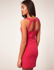 Vero Moda Dress With Cut Out And Zip Back