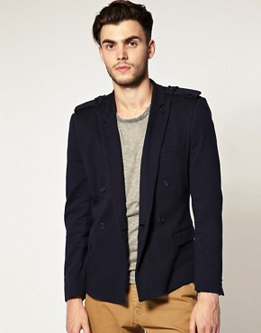 ASOS Slim Fit Double Breasted Military Blazer