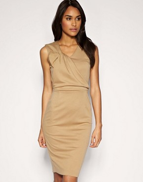 Image 1 of ASOS Tailored Twist Front Ponti Pencil Dress