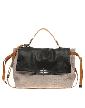 Image 1 of&#160;ASOS Leather Multi Strap Contrast Bag